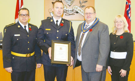 {Blyth's Stewart honoured with Police Officer of the Year Award}