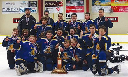{Wingham PeeWee team raises $15,115 for Juvenile Diabetes - Nov. 22, 2018}